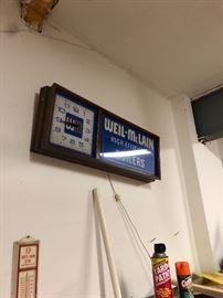 advertising wall clock