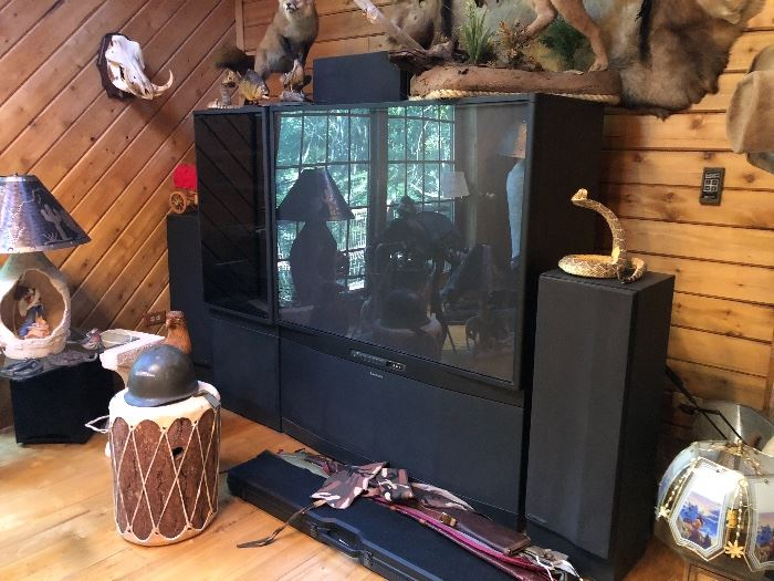 Large Tv and speakers