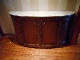 Century Furniture, Marble Top. Credenza. Storage