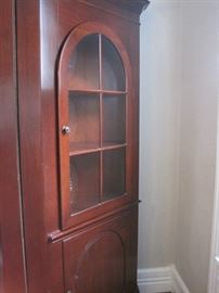 corner cabinet (one of a pair)