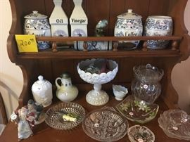shelf milk glass antiques and more