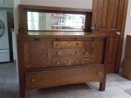 Tiger Oak Antique sideboard