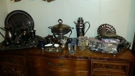 Buffet & Silver Serving Pieces