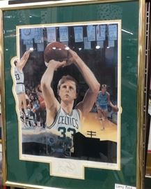 Larry Bird - autograph   Boston Celtics