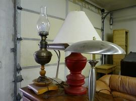 We have a few lamps for sale, all working, all vintage.