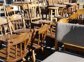 Most of our furniture is solid wood and vintage, the kind they don't make anymore.