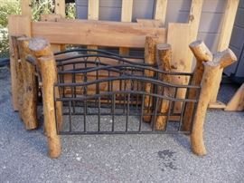 We have a set of twin rustic head and footboards without rails.  What could you do with them?
