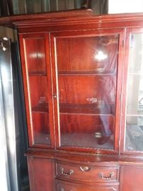 Imported Hand Made 1800's glass China Cabinet. Price does not include delivery and set up. HIGHEST phone BID takes it. BEST bid so far is $176.