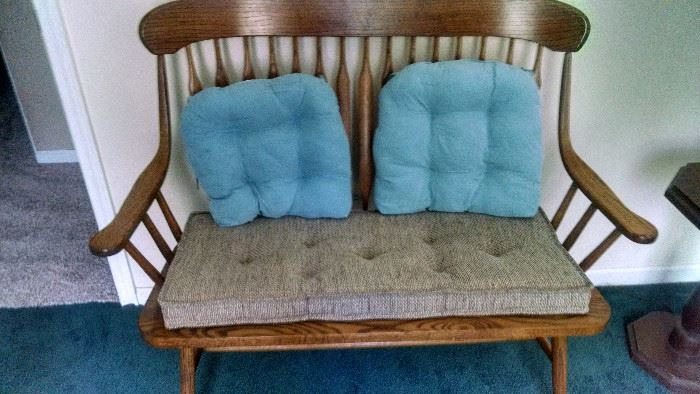 COUNTRY WOODEN LOVE SEAT BENCH