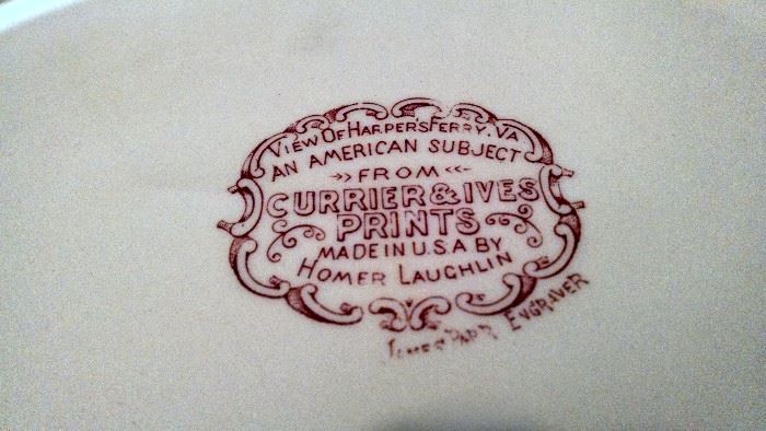 CURRIER& IVES /HOMER LAUGHLIN CHINA