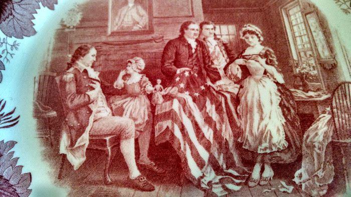 CLOSE-UP....BIRTH OF AMERICAN FLAG