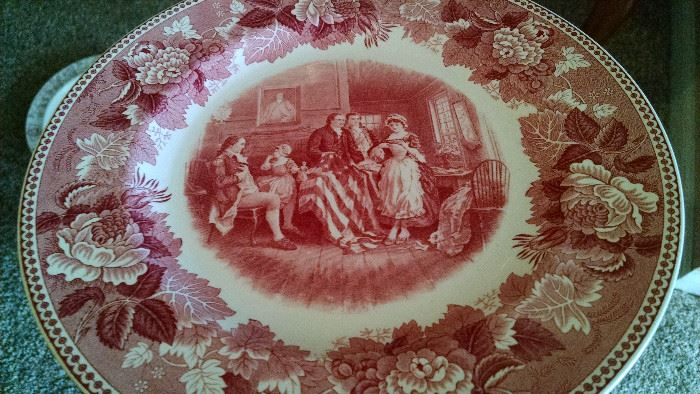 WEDGWOOD CHINA/ ENGLAND ...BIRTH  OF THE AMERICAN FLAG ....COPYRIGHTED..1932