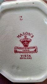 CLOSE-UP...MASON'S ..VISTA ENGLAND