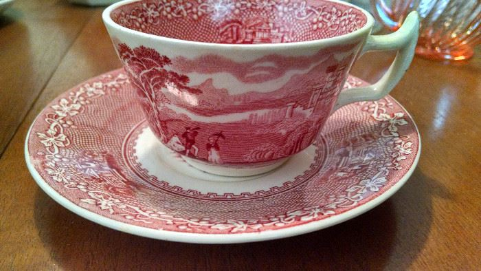 """ROYAL STAFFORDSHIRE..ENGLAND..""""JENNY LIND 1795..CUP AND SAUCER SET"""
