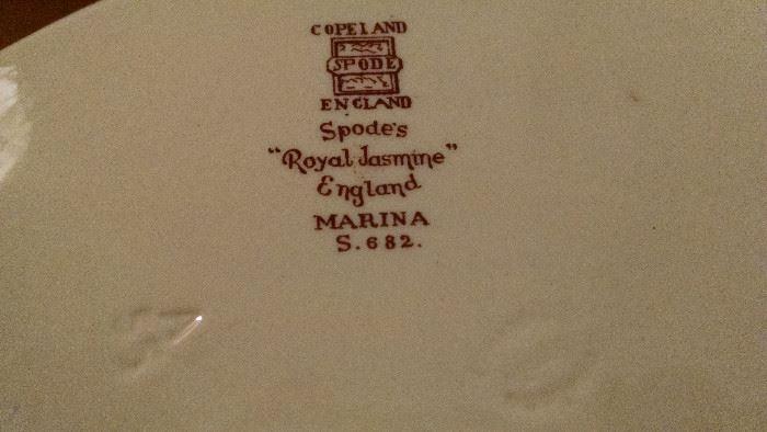 """CLOSE-UP......SPODE'S """"ROYAL JASMINE"""" /ENGLAND"""