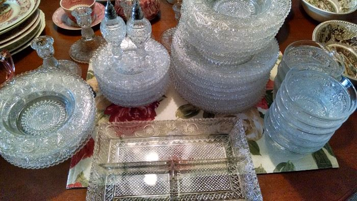 MORE.......**BEAUTIFUL**** ORNATE CUT GLASS SERVING PIECES