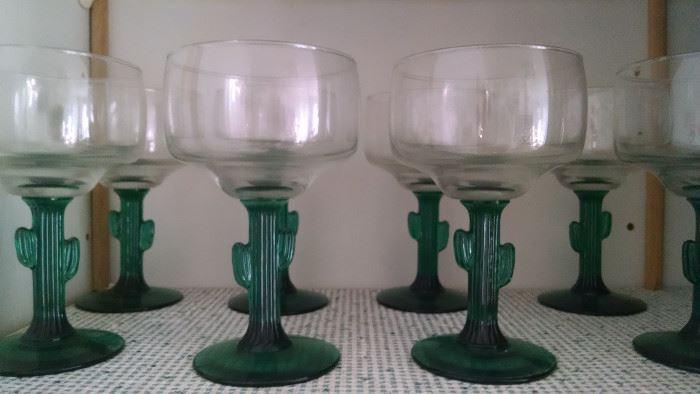 CACTUS DRINKING GLASSES...GREAT FOR MARGARITA'S!!