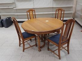 Antique Oak Dining Set