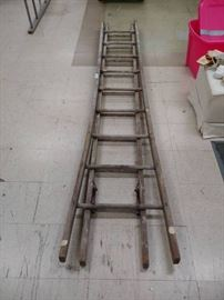 Antique Wood Extension Ladder