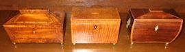 Antique tea caddy boxes
