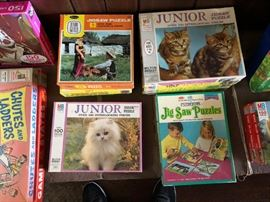 Vintage Puzzles and Games