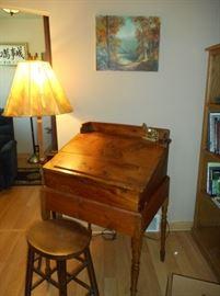 Antique Pine Standing Desk