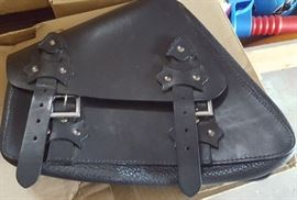 Harley leather saddle bags pair