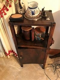 Antique Smoker's Table $ 80.00