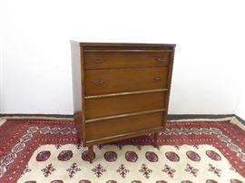Mid Century Bassett 4 Drawer Dresser