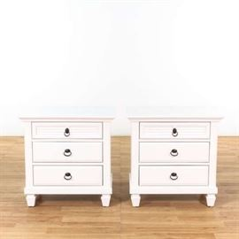 "PAIR OF ""ROUNDHILL FURNITURE"" REGITINA NIGHTSTANDS"