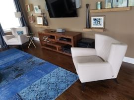 """FABULOUS *American Leather* Wide Wing Armchairs. """"Originally $3200"""". ea SELLING for $700 ea (GORGEOUS)"""