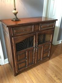 Unique wine rack, entryway cabinet.