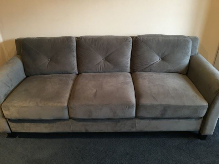 Stunning Living Situations grey velvet sofa, in excellent condition!