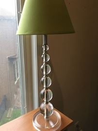 Pretty glass-look lamp.