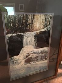 Numbered, framed photo print by William McNamara, 208/850.