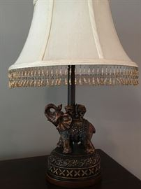 Cute elephant lamp.