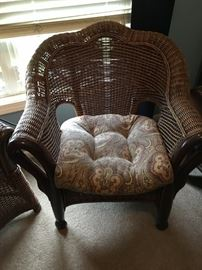 Bamboo and wicker armchair in excellent condition! (2)