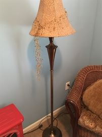 Metal floor lamp. So pretty!