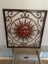 Metal sun deco for indoor or out.