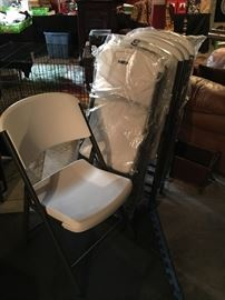 Lifetime foldable chairs, new!! 6 in all.