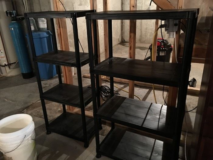 Two plastic shelves.
