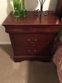 3 drawer nightstand, with top drawer velvet lined.