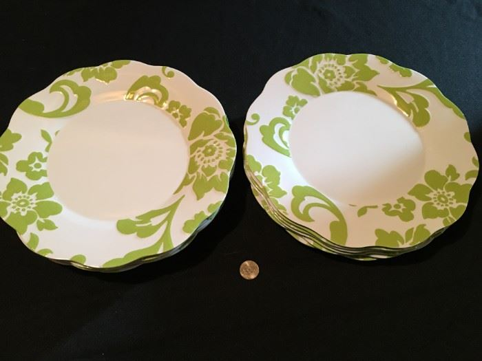 Fancy plastic plates (which match the martini and drinking glasses). (12)
