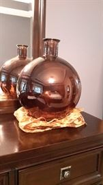 Beautiful large glass vase, one is dark brown and another is clear (not pictured).