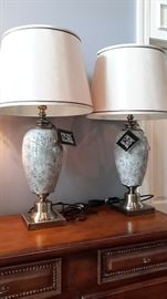Two matching , brand new, Pacific Coast lamps. Very charming!