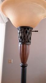 Lovely 6ft  torchiere lamp.
