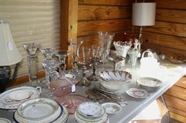 Glassware and china