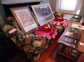 Watercolor, Parlor Tour Poster, flip flop hats and Couch