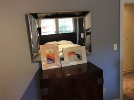 Framed Mirror and Prints