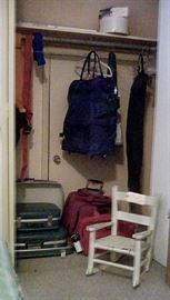 Child's  rocker  and more luggage